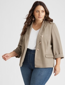 Beme 3/4 Sleeve Smart Blazer