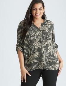 Beme Elbow Sleeve Tortoise Shell Shirt