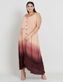 Beme Sleeveless Eden Ombre Midi Dress
