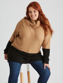 Beme Long Sleeve Colour Block Knit