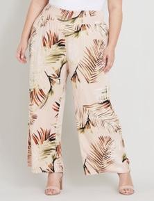 Beme Full Length WIde Leg Print Pant