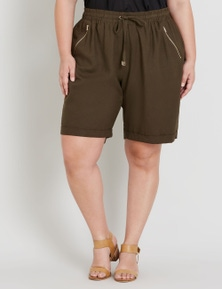 Beme Linen Zip Pocket Short