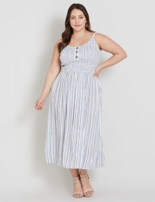Beme Sleeveless Stripe Maxi Dress