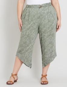Beme Asymmetrical 7/8 Crop Print Pant