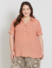 Beme Short Sleeve Box Collared Shirt