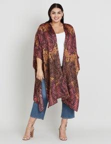 Beme Paisley Printed Kimono