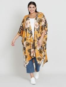 Beme Floral Fern Back Kimono