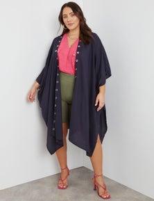 Beme Extentended Sleeve Longline Kimono