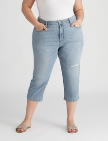 Beme Crop Gypset Distressed Jean