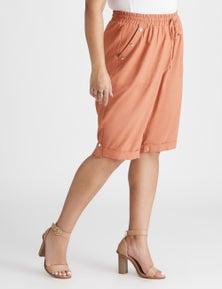 Beme Knee Length Linen Blend Short