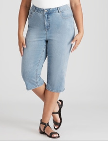 Beme Light Blue Wash Cropped Jean