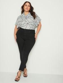 Beme Mid Rise Core Short Length Jean