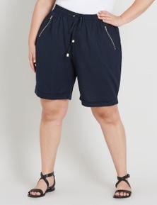 Beme Linen Zip Pocket Short