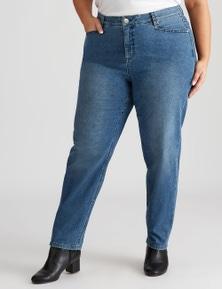 Beme Pocket Detail Straight Fit Regular Length Jean