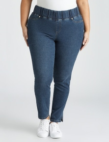 Beme Pull On Wide Waistband Jean