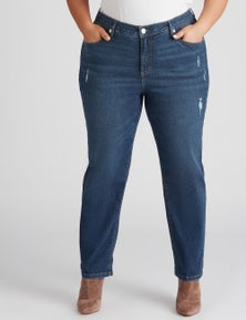 Beme Girlfriend Fit High Rise Jean
