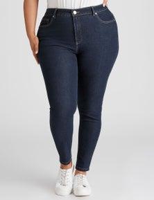Beme Mid Rise Sculpt Detail Skinny Jean