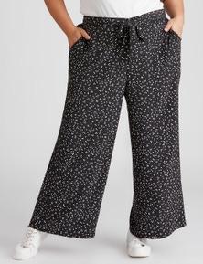 Beme Wide Leg Elasticated Back Pant