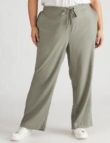 Beme Linen Blend Full Length Pant