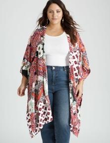 Beme elbow sleeve kimono