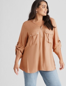 Beme Zip Front Detail Shirt
