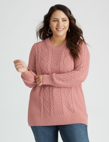 Beme Long Sleeve Cable Knit Jumper