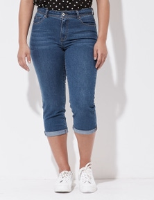 Crossroads Cropped Slim Roll Up  Jean