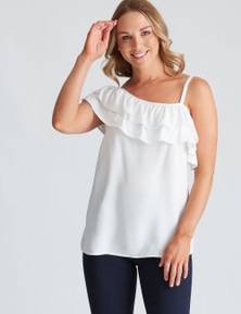 Crossroads Off Shoulder Ruffle Top