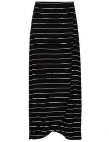 Crossroads Stripe Wrap Maxi Dress Skirt