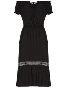 Crossroads Lace Hem Maxi Dress