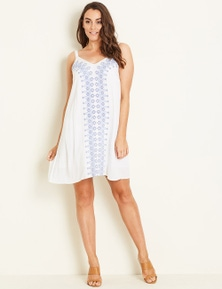 Crossroads Embroidered Dress