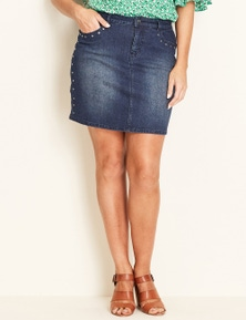 Crossroads Stud Denim Skirt