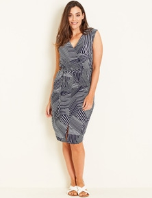 Crossroads Midi Stripe Dress