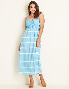 Crossroads Stripe Maxi Dress