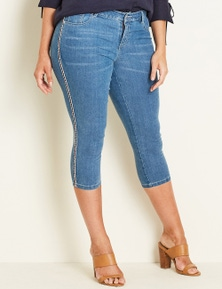 Crossroads Side Stripe Cropped Jean