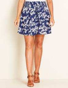 Crossroads Shirred Mini Skirt