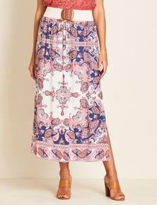 Crossroads Belted Maxi Dress Skirt