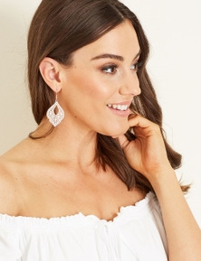 Crossroads Filigree Pattern Earring