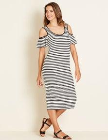 Crossroads Shoulder Stripe Dress