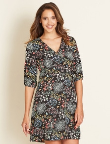Crossroads Wrap Floral Dress