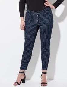 Crossroads Fine Stripe Skinny Jean