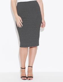 Crossroads Stripe Midi Skirt