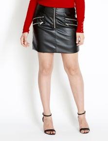 Crossroads Faux Leather Mini Skirt