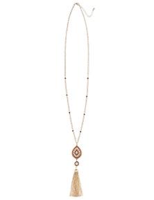 Crossroads Mini Bead Tassel Necklace