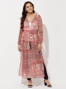 Crossroads Maxi Dress Kimono Cover Up