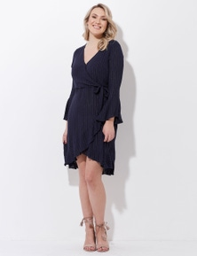 Crossroads Lurex Ruf Wrap Dress