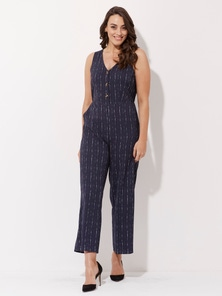 Crossroads Button Frnt Jumpsuit