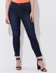 Crossroads Button Hem High Rise Jean