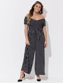 Crossroads Shirred Crossover Jumpsuit