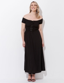 Crossroads Eylet Shirred Dress